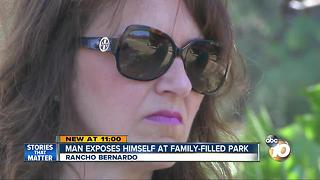 Man exposes himself at family-filled park - Video