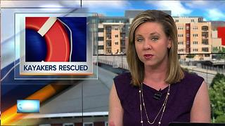 Two kayakers rescued near Menasha Dam - Video