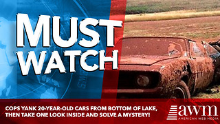 Cops Yank 20-Year-Old Cars From Bottom Of Lake. Take One Look In Back Seat, Solve Mystery - Video