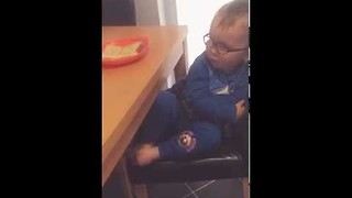 Little Boy Protests Against Having His Toast and Eating It - Video