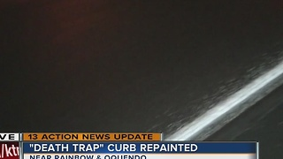 'Death trap' curb repainted - Video