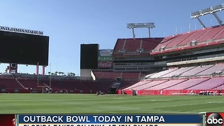 Outback Bowl today in Tampa - Video