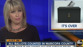 All Maricopa County ballots counted weeks after election - Video
