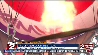 Inside the Remax hot air balloon previewing Tulsa Balloon Festival - Video