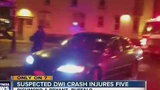 Suspected DWI crash injures five - Video