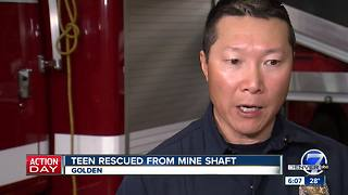 West Metro firefighters speak after saving life of teen who fell into a mine shaft - Video