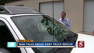 Man Thankful Woman He Saved From Crash Is Okay - Video