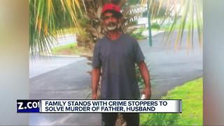 Family stands with Crime Stoppers to solve murder of father, husband - Video