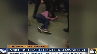 Video shows North Carolina school officer body slam student - Video