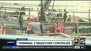 Terminal 3 makeover at Sky Harbor continues - Video