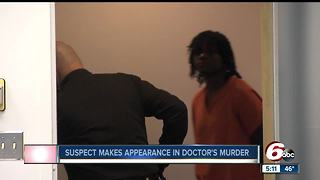 Suspect in doctor's murder makes first court appearance - Video