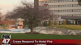Dozens displaced after fire at Crowne Plaza - Video