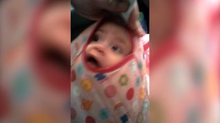 Baby Discovers New Way To Play Peekaboo - Video