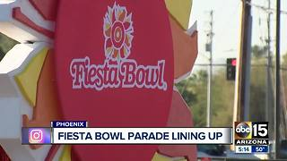 Preparations underway for Fiesta Bowl parade - Video