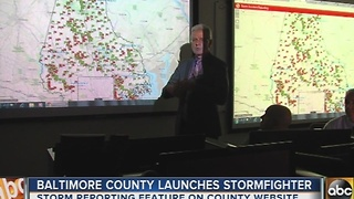 Baltimore County unveils new winter storm reporting feature - Video