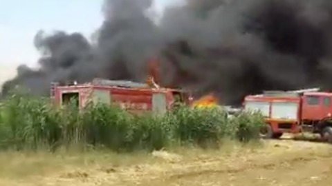 Fire Destroys Tents in Syrian Refugees Camp in Lebanon