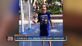 11-year-old celebrates 2 years since transplant