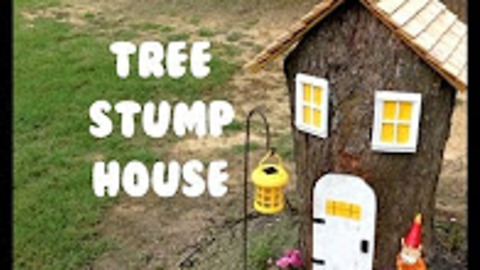 How To Turn A Dried Out Tree Stump Into A Whimsical Gnome House