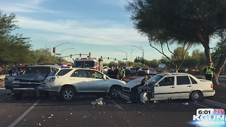 3 car accident affecting traffic near Continental Ranch