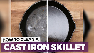 How To Care For A Cast Iron Pan - Video