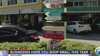 Businesses hope you shop small this year - Video