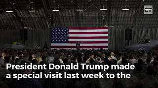 Trump Makes Special Pit Stop to Thank Marines - Video
