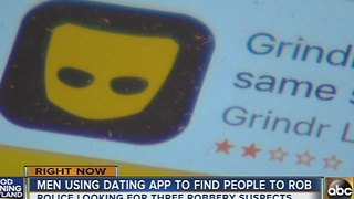 Men using dating app to find people to rob - Video