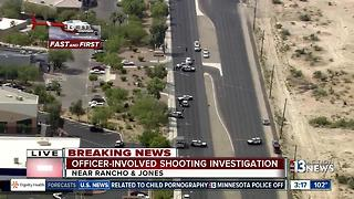 Chopper 13 flying over scene of shooting on Rancho Drive - Video