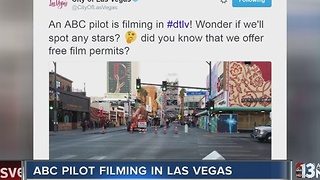 ABC pilot filming in downtown Las Vegas - Video