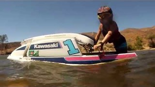 10-Year-Old Jet Skier Shows Off His Skills - Video