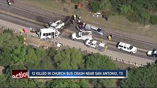 Texas trooper: 12 dead, 3 injured in church van-truck crash - Video