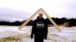 This Huge Boomerang Requires A Monster To Throw It, And This Man Does It With Ease - Video