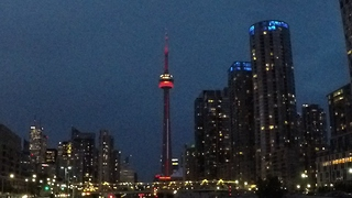 Dazzling CN Tower light display