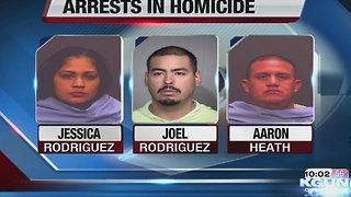 Three arrested in connection with December homicide