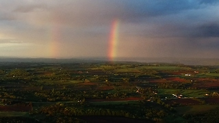 Four mile drone flight captures stunning rainbow footage - Video