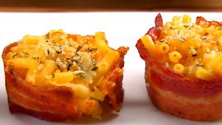 Bacon-Wrapped Mac & Cheese Bites - Video