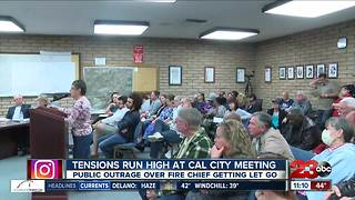Public outraged over dismissal of Cal City fire chief - Video