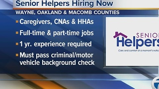 Senior Helpers is hiring caregivers in Wayne, Oakland and Macomb counties - Video