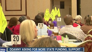 Families of people with developmental disabilities asking for support from NY state - Video