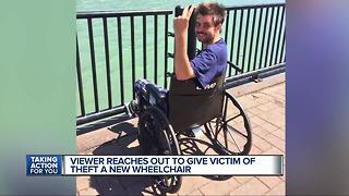 7 Action News viewer gives victim of theft a new wheelchair - Video