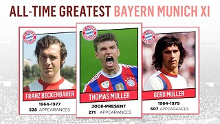 All-Time Greatest Bayern Munich XI | Muller, Beckenbauer, Robben! - Video