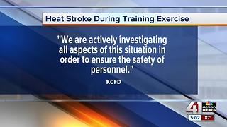 Kansas City firefighter suffers heat stroke during training, recovering from coma - Video