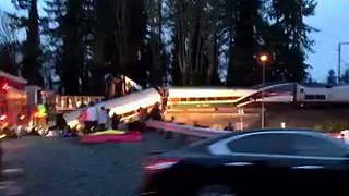 Amtrak Passenger Train Derails Near Tacoma, Washington - Video