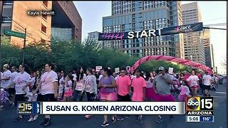 Susan G. Komen Arizona chapter closing - Video