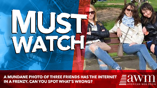 A Mundane Photo Of Three Friends Has The Internet In A Frenzy. Can You Spot What's Wrong? - Video