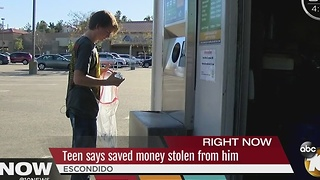 Thief Steals Teen's Hard Earned Recycling Money - Video
