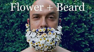 Daughters Decorate Dad's Beard With Beautiful Flowers - Video
