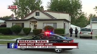 Man shot during home invasion in St. Clair Shores - Video