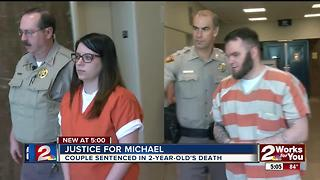Couple sentenced in child's death - Video