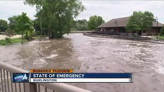 State of Emergency in Burlington after flash floods - Video